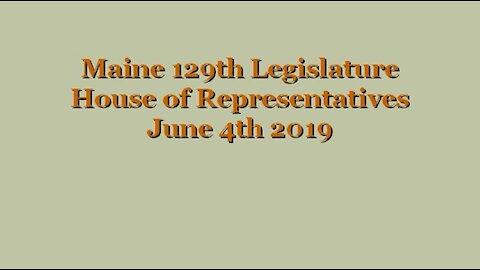 20190604 Maine State House LD640 Failure - Sent to Senate