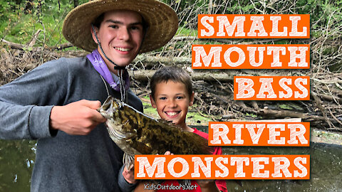 S2:E26 Smallmouth Bass River Monsters | Kids Outdoors