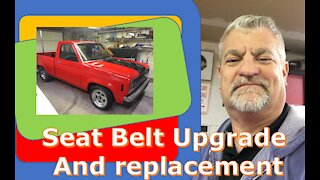 1986 FORD RANGER seat belt replacement