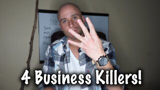 4 Entrepreneurial Mistakes That Are Killing Your Success!