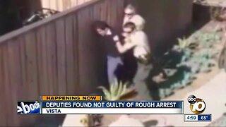 Deputies found not guilty of rough arrest in Vista