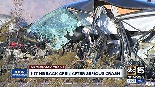 Wrong-way driver causes crash on I-17