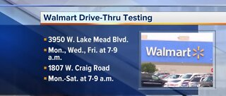 Walmart drive-thru COVID-19 testing in Las Vegas