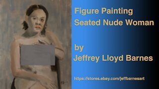 Figure Painting Seated Nude Woman