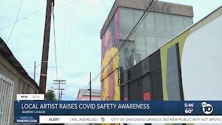 Mural raises COVID-19 safety awareness