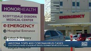 Arizona tops 400 coronavirus cases