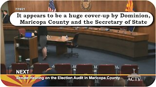Arizona Senate hearing on election audit FULL * July 15, 2021 * Dominion - Maricopa County