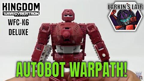 Transformers Kingdom Deluxe Warpath Review WFC-K6 (Retail Release), Larkin's Lair