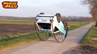 Keep rolling, rolling, rolling! Dutch mechanic turns battered Volkswagen into a rollable car