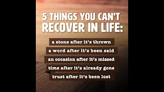 Things you can't recover in life [GMG Originals]