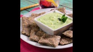 Chia Biscuits with Vegan Avocado Dip