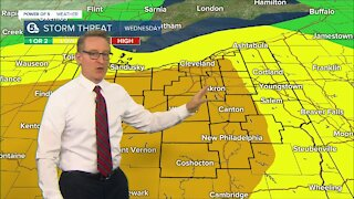 Chief Meteorologist Mark Johnson gives 4pm update on severe storm threat