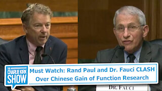 Must Watch: Rand Paul and Dr. Fauci CLASH Over Chinese Gain of Function Research