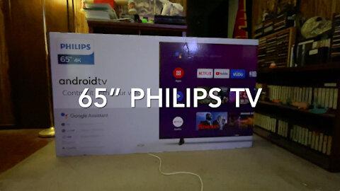 """My New 65"""" Philips HDTV"""