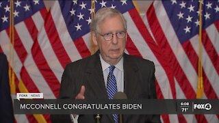 McConnell congratulates Biden