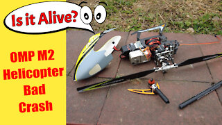 OMP M2 Direct Drive RC Helicopter Bad Crash