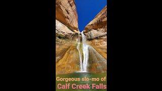 Stunning Waterfall in Slow-Mo, Calf Creek Falls