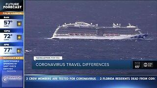 Coronavirus travel advisory
