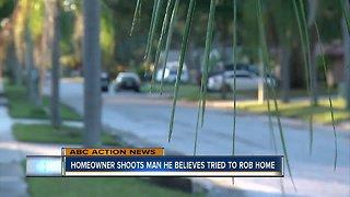 Homeowner shoots man