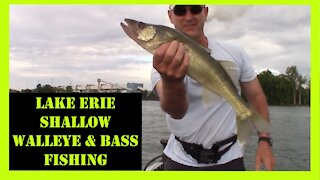 Lake Erie Walleye and Bass Fishing