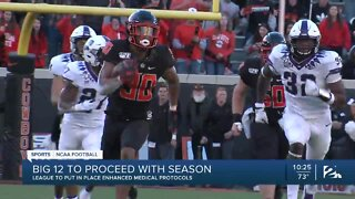 Big 12 to proceed with fall football season