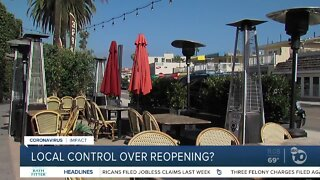 Local control over reopening?