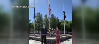 Gov. Sisolak attends wreath laying ceremony
