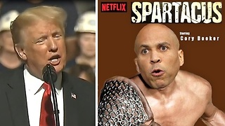 President Trump mocks Libtardacus Cory Booker