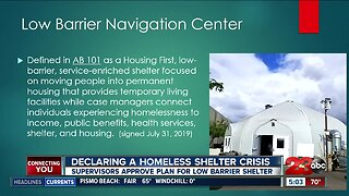 Kern County Supervisors approve plan for low barrier homeless shelter in unanimous vote