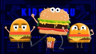 Burger King Daddy Finger Food Family - Ice Cream Finger Family Collection Cookie Tv Video
