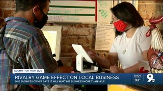 Business owner says rivalry game will hurt his business more than help