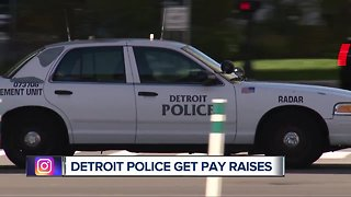 Detroit police get pay raises
