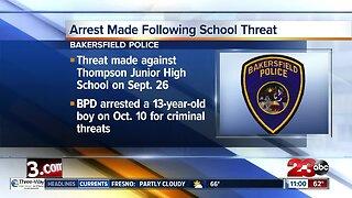Arrest Made Following School Threat