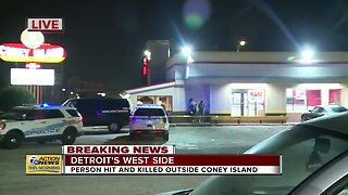 Person hit and killed outside coney island in Detroit