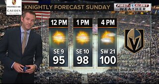 Vegas Golden Knights opening weekend weather forecast