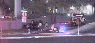 TRAFFIC ALERT: Car flipped over near Flamingo, Edmond