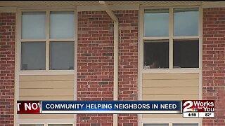 Community helping neighbors in need