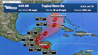 South Florida in cone of concern for Tropical Storm Eta