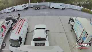 Multiple car parts stolen at a Fort Myers business in one day