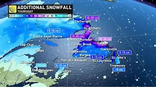 Snow and arctic air for atlantic canada