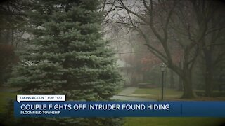 Husband and wife fight off burglar inside Bloomfield Township home