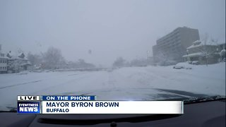 Buffalo Mayor Byron Brown provides a live update on road conditions in the city