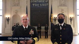 CNO and USNA Midshipmen Celebrate Black History Month