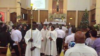 South Africa - Cape Town - Leon Muller's funeral service. (Video) (8AW)