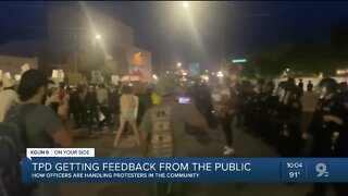 Tucson police getting feedback from the public on protests