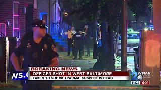 Baltimore Police Officer Shot