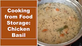 Cooking from Food Storage, Episode 1: Chicken Basil