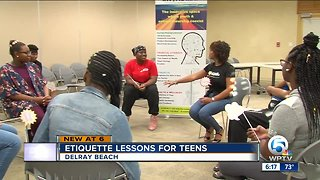 Delray Beach group teaching teens etiquette