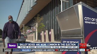 Ballot drop boxes are more common in this election