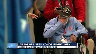 Veteran in hospice care returns from successful Honor Flight